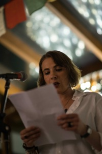 Performing 'Reveries about language' at The Still Point Journal Launch, The Gallery Cafe, 8 November 2015.