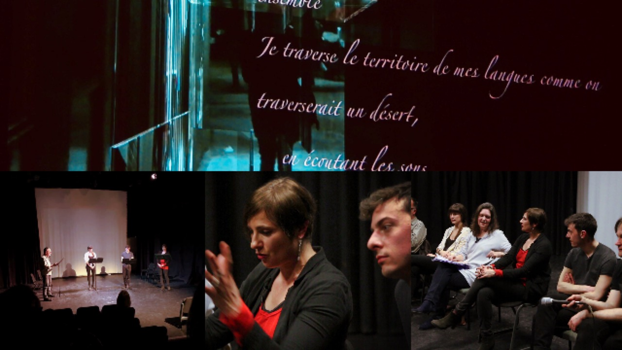 "Reflections: Multilingual poetry performance ""Reveries about language"", 20 March 2019, Pinter Studio, London"